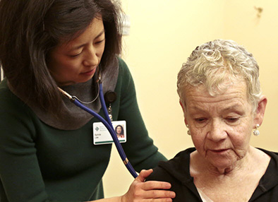 Dr. Sylvia Lee with with SCCA patient